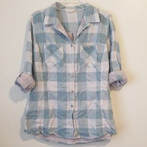 Large woolrich button down top